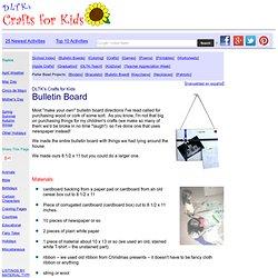 Bulletin Board From Cardboard & Paper