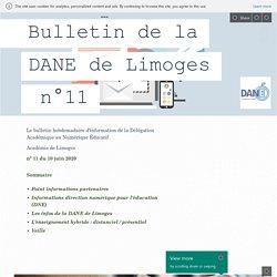 Bulletin de la DANE de Limoges n°11