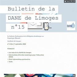 Bulletin de la DANE de Limoges n°15