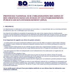 Bulletin Officiel de l'Education Nationale BO Hors série N°1 du 6 janvier 2000