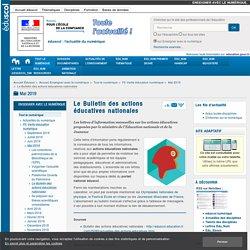 Le Bulletin des actions éducatives nationales