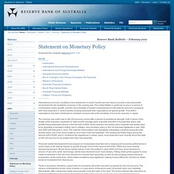 RBA: Bulletin February 2001-Statement on Monetary Policy
