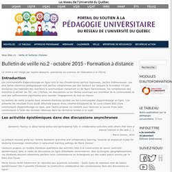 Bulletin de veille no.2 - octobre 2015 - Formation à distance