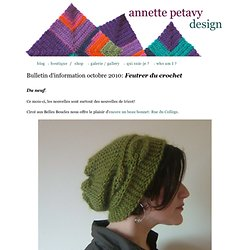 Bulletin d'information novembre 2010 - Feutrer du crochet