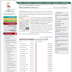 Bulletin d'information du réseau Loup