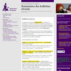 Bulletin 2020/1 - Marionnette et Thérapie