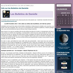 Bulletin MétéoAstro© du 1er octobre 2013 « Danielle clermont