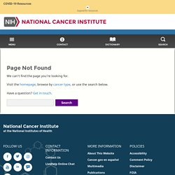NCI Cancer Bulletin for June 29, 2010