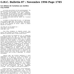 G.H.C. Bulletin 87 : Novembre 1996 Page 1785