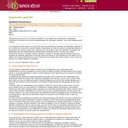 Protocole d'accord de reproduction d'oeuvres - BOEN n° 15 du 8 avril 2004