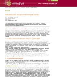 Bulletin officiel n°16 du 19 avril 2007