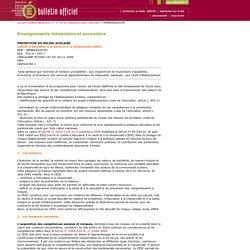 Bulletin officiel n°45 du 7 décembre 2006
