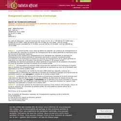 Bulletin officiel n°47 du 21 décembre 2006