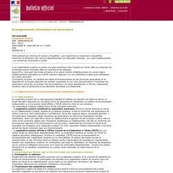 Coopérative scolaire Bulletin officiel n° 31 du 31 juillet 2008