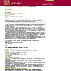 Bulletin officiel n° 44 du 30 novembre 2006