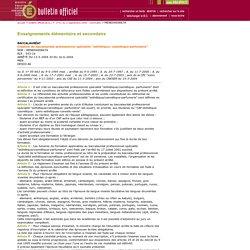 Référentiel du Bac Pro Esthétique Cosmétique Parfumerie (BO n° 31, 2 septembre 2004)