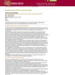 Bulletin officiel n°34 du 22 septembre 2005