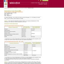 Bulletin officiel hors-série n° 3 du 19 juin 2008