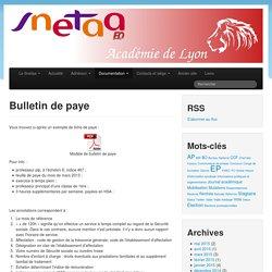 Bulletin de paye « Snetaa Lyon
