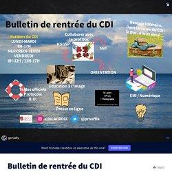 Bulletin de rentrée du CDI by CDI Dr Lacroix on Genially
