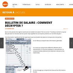 Bulletin de salaire : comment décrypter ?