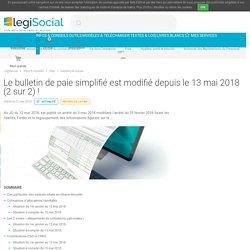 Le bulletin de paie simplifié est modifié depuis le 13 mai 2018 (2 sur 2) ! LégiSocial