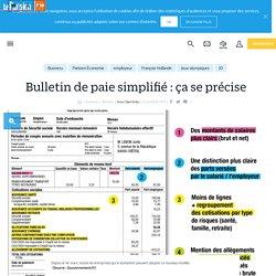 Bulletin de paie simplifié: ça se précise - Le Parisien
