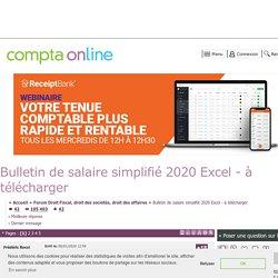 Bulletin de salaire simplifié 2020 Excel - à télécharger