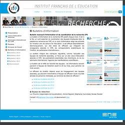 LETTRE : Bulletin de la recherche Ifé