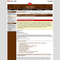Bulletins de recherche sur les politiques de santé, numéro 7, novembre 2003 [Santé Canada, 2003]