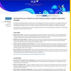 Bulletproof Your Website & Social-Media Presence Against Algorithm Changes – PostBox Communications Blog
