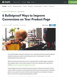 6 Bulletproof Ways to Improve Conversions on Your Product Page