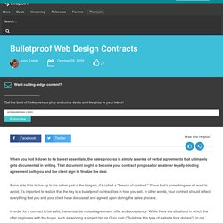 Bulletproof Web Design Contracts