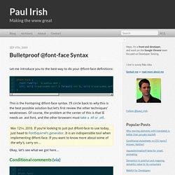 Bulletproof @font-face syntax