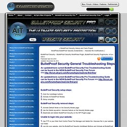 BulletProof Security WordPress Plugin Support - WordPress Website Security