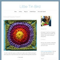 Bullseye Squares Pattern « Little Tin Bird