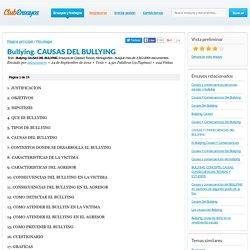 Bullying. CAUSAS DEL BULLYING - Tesis