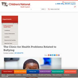 Bullying Related Health Risks - Children's National Health System