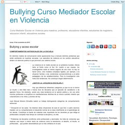 Bullying y acoso escolar