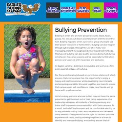 Eagles Landing Day Camp - Bullying Prevention Resources