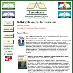 Bullying Resources for Educators Booklist