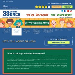 Let's Talk About Bullying · 33rd ONCE School Competition