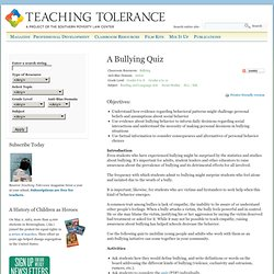 A Bullying Quiz
