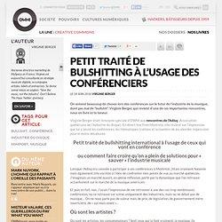 Petit traité de bulshitting à l'usage des conférenciers » Article » OWNI, Digital Journalism