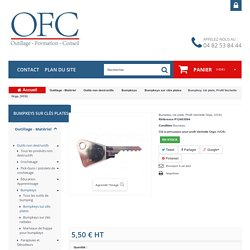 Bumpkey, clé plate, Profil Vachette Orga, (VC8) - Ouverture Fine