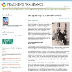 Doing History in Buncombe County