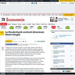 La Bundesbank soutient désormais Mario Draghi