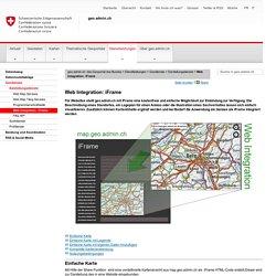 Bundesgeoportal, geo.admin.ch: Web Integration mit iFrame