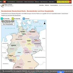 Bundesländer Deutschland Karte - Bundesländer und ihrer Hauptstadte