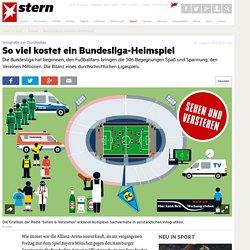 Bundesliga: So viel kostet ein Heimspiel - Fußball